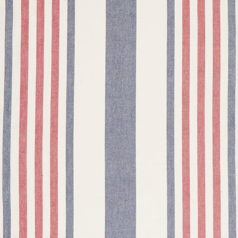 Picnic Point Tea Toweling - Stripe Red, White & Blue Yardage
