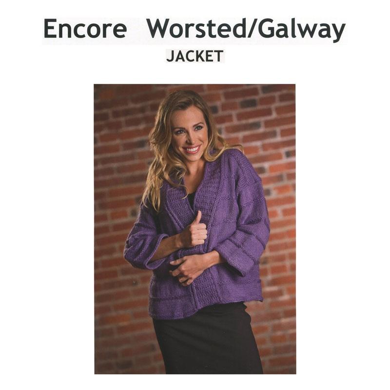 Encore Worsted/Gaway Jacket Pattern