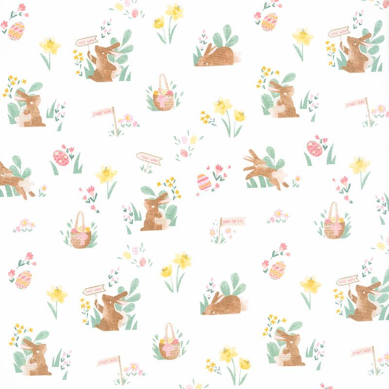 Easter Egg Hunt - Easter Main White Yardage
