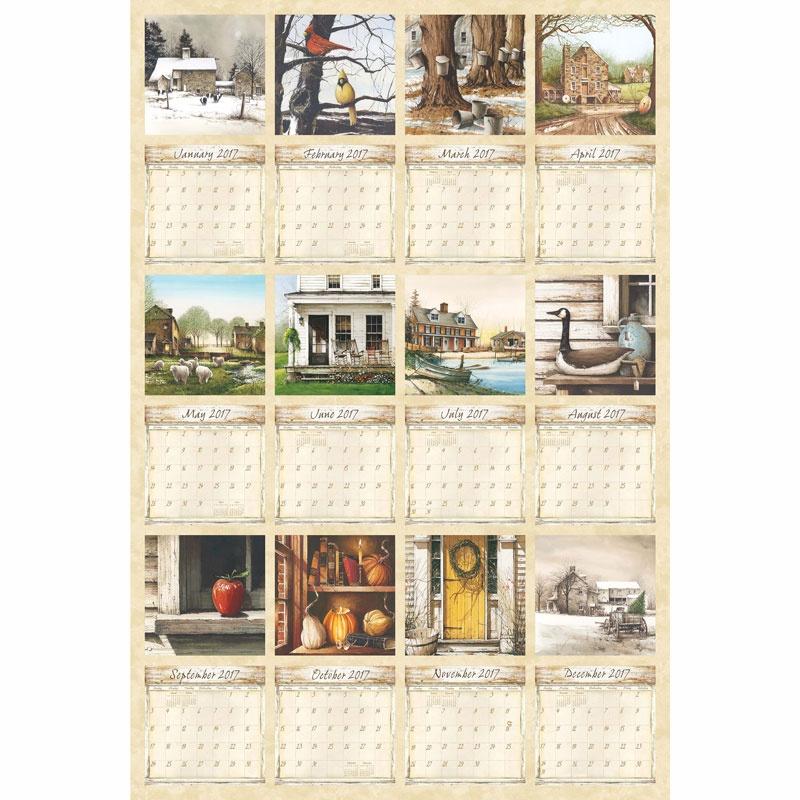 Country Living Calendar - 2017 Calendar Digitally Printed Panel ... : country living quilt - Adamdwight.com
