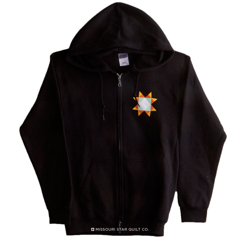 Missouri Star Logo Large Zip Sweatshirt - Black