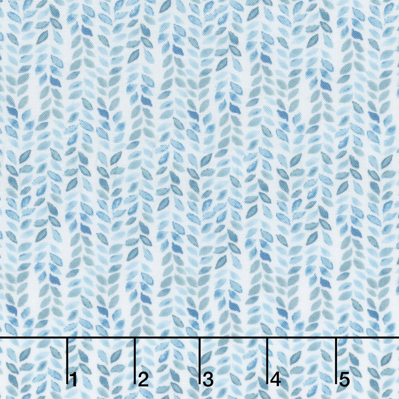 Birdsong - Herringbone Aqua Yardage