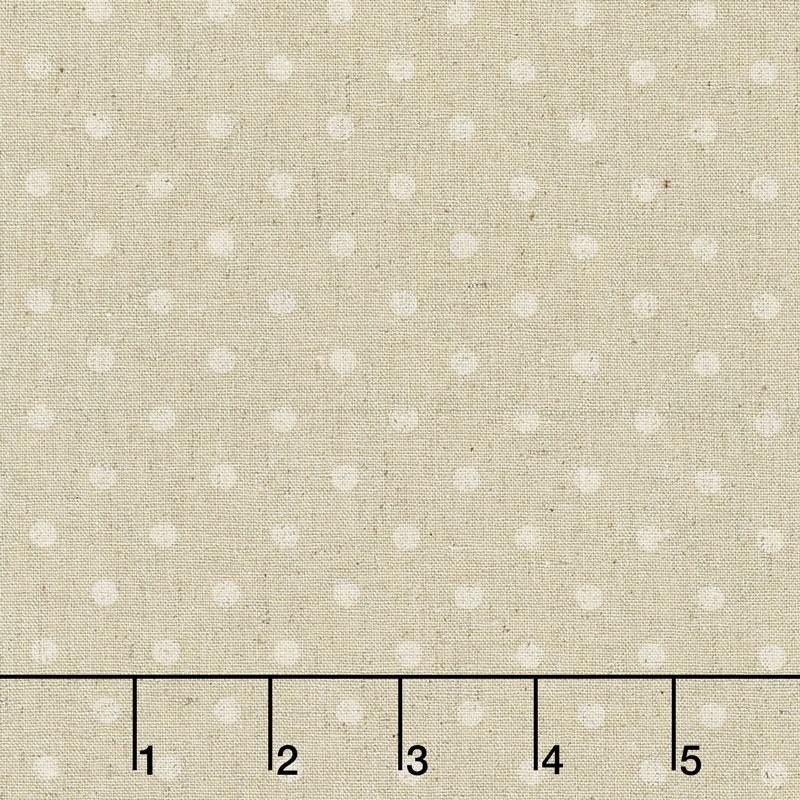 Linen Mochi Dot - Dot Sand Linen Yardage