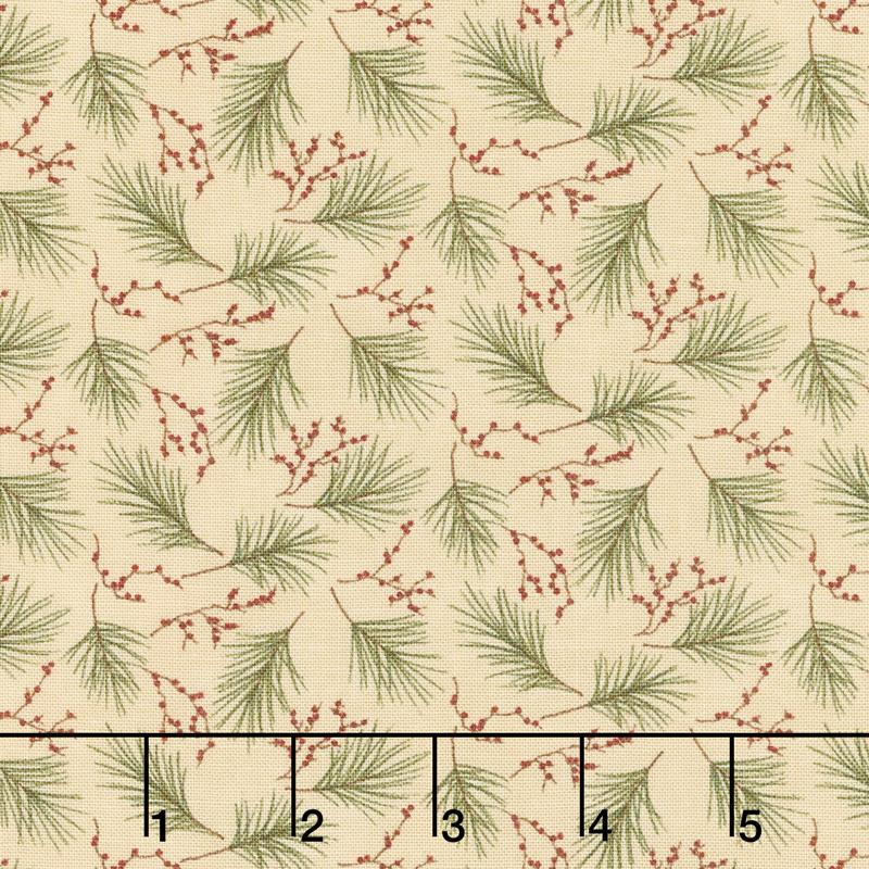 Winter Manor - Mini Pine Buff Yardage