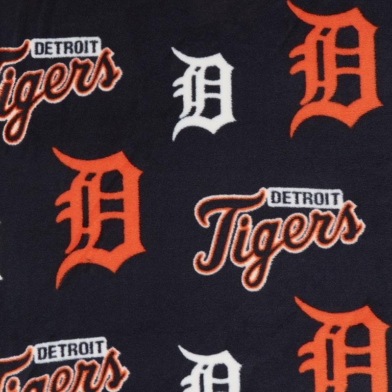 MLB Fleece - Detroit Tigers Blue Yardage