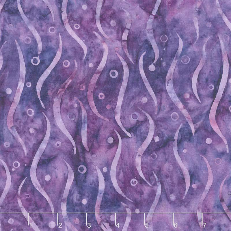Coastal Getaway Batiks - Seaweed Deep Violet Yardage