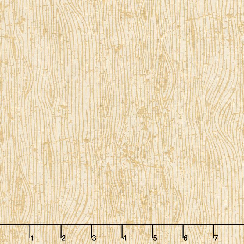 Lumberjack Aaron - Woodgrain Cream Yardage
