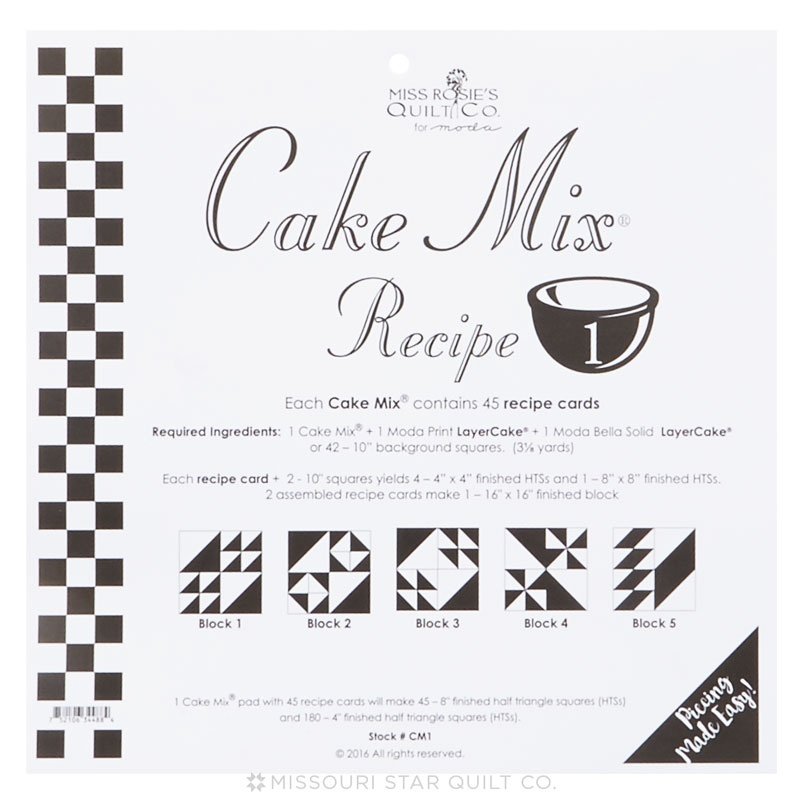 Cake Mix Recipe 1 By Miss Rosie S Quilt Co Miss Rosie S