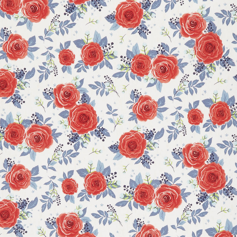 Hedge Rose - Main Cream Yardage