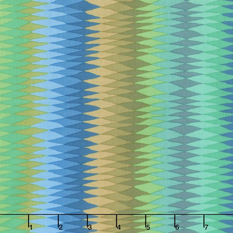 Kaffe Fassett Collective Fall 2018 - Day Diamond Stripe Green Yardage