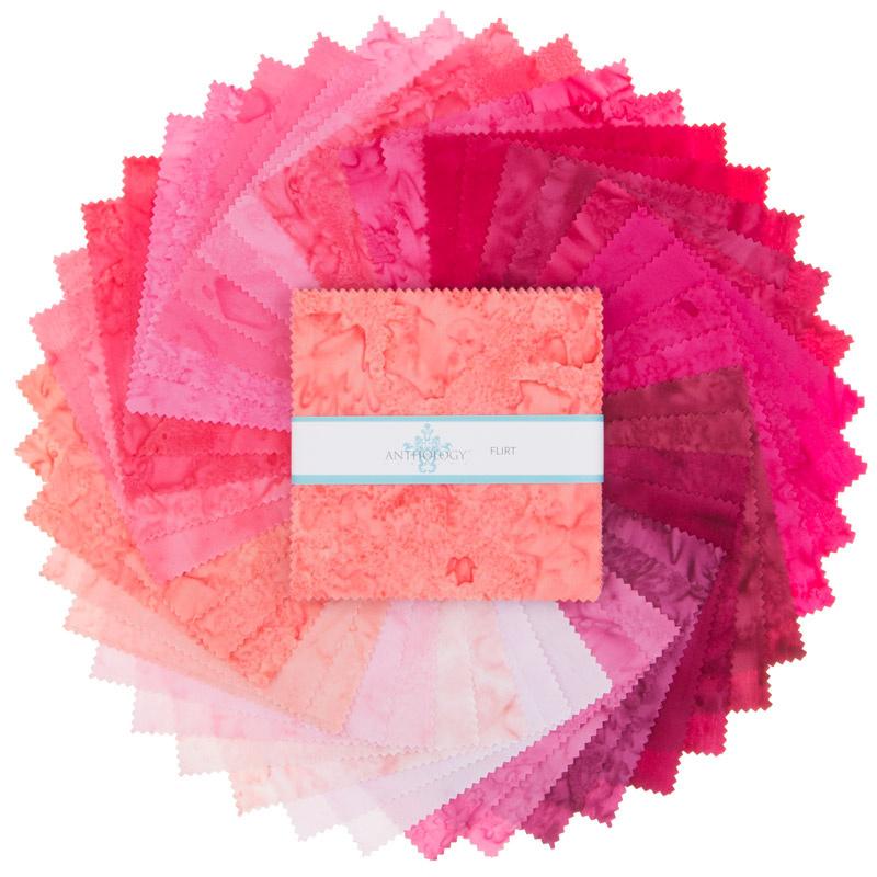 Lava Batik Solids - Flirt Charm Pack