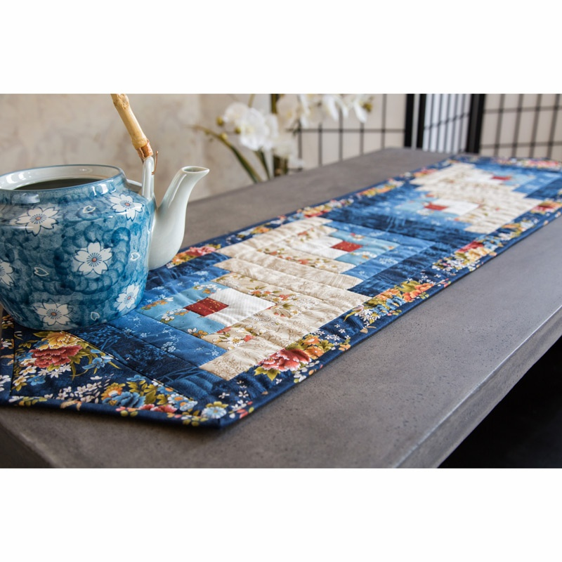 Japanese Garden Log Cabin Table Runner Kit