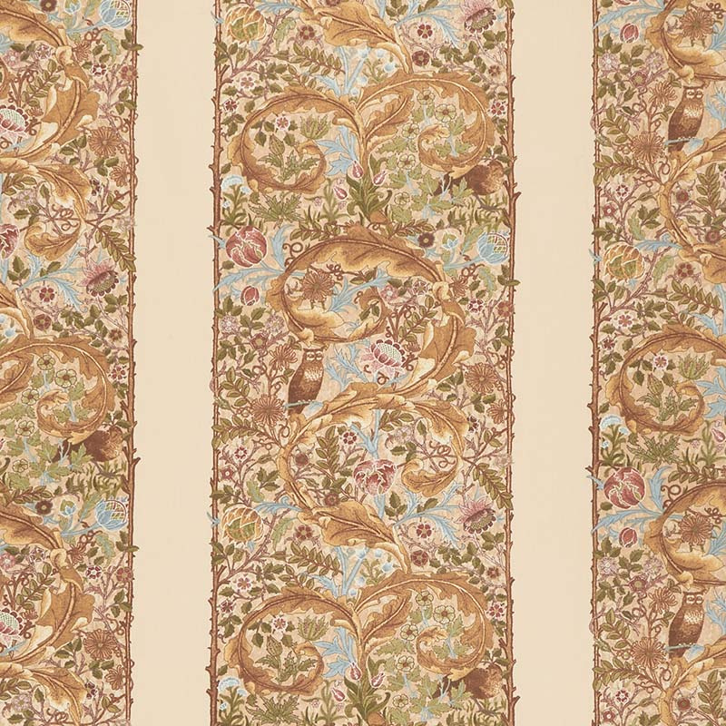 May Morris Studio - The Owl 1895 Cream Yardage