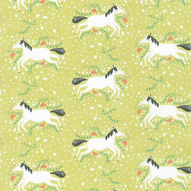 Enchanted - Unicorns Galore Sprout Yardage