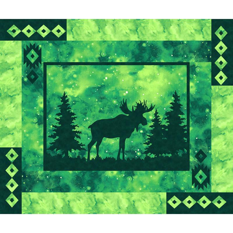 Artisan Spirit - Imagine Novelty Moose Emerald Digitally Printed Panel