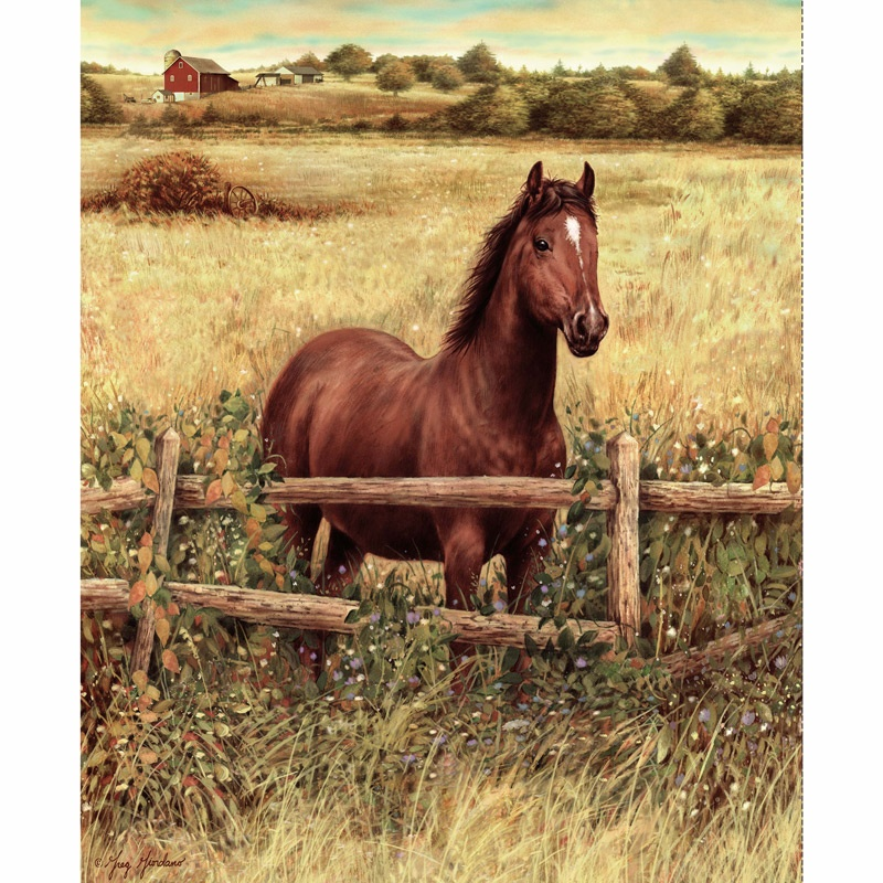 Hold Your Horses - Horses Blaze at the Fence Digitally Printed Panel
