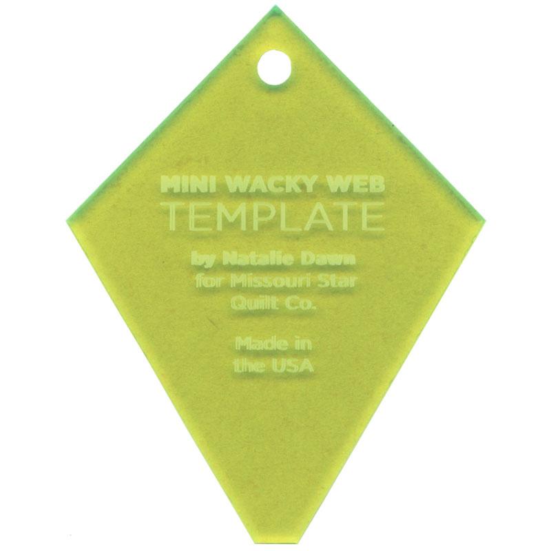 Missouri Star Mini Periwinkle Wacky Web Template For 2 5 Charm