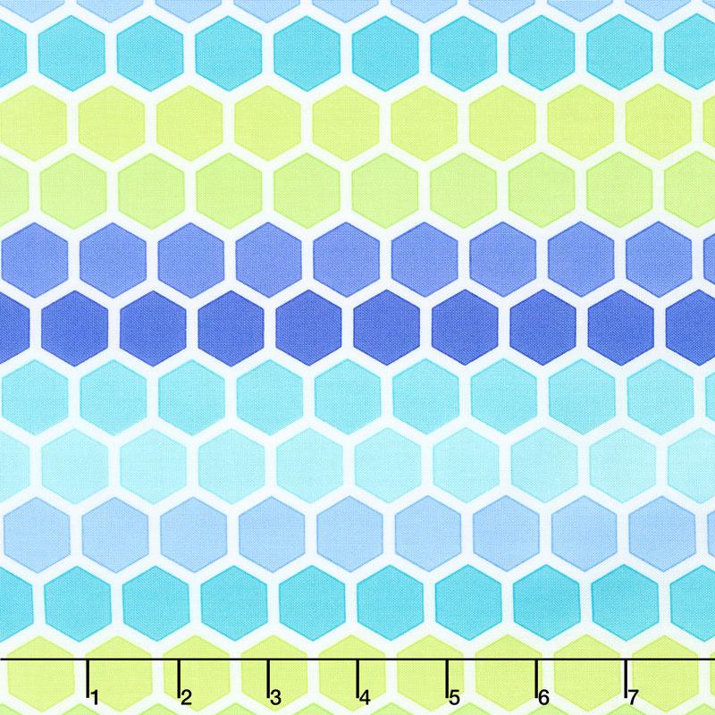 Confetti - Honeycomb Aqua Green Yardage
