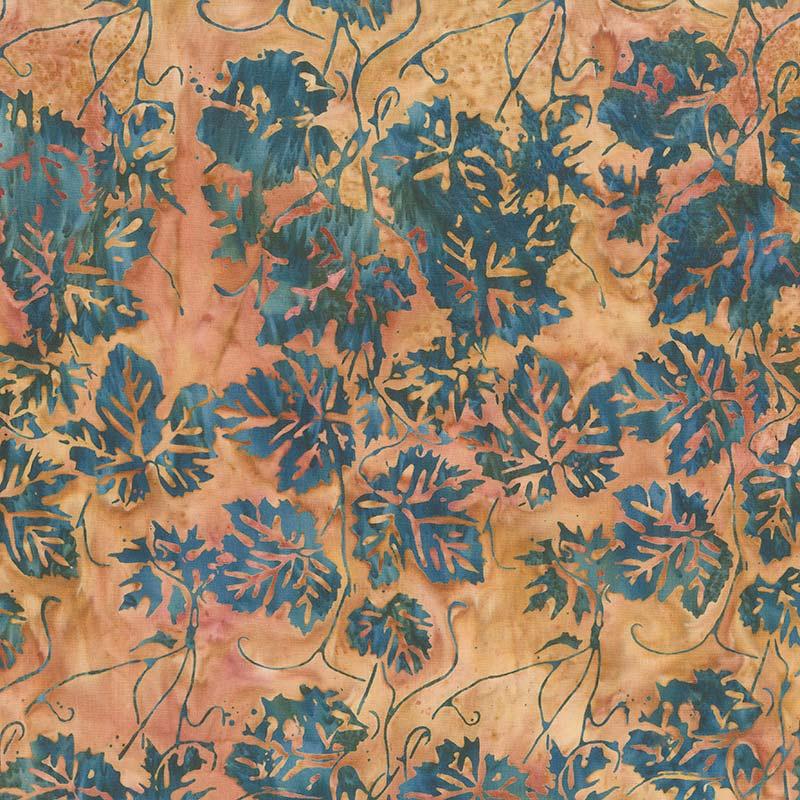 Desert Sun Batiks - Leaf Gold Yardage