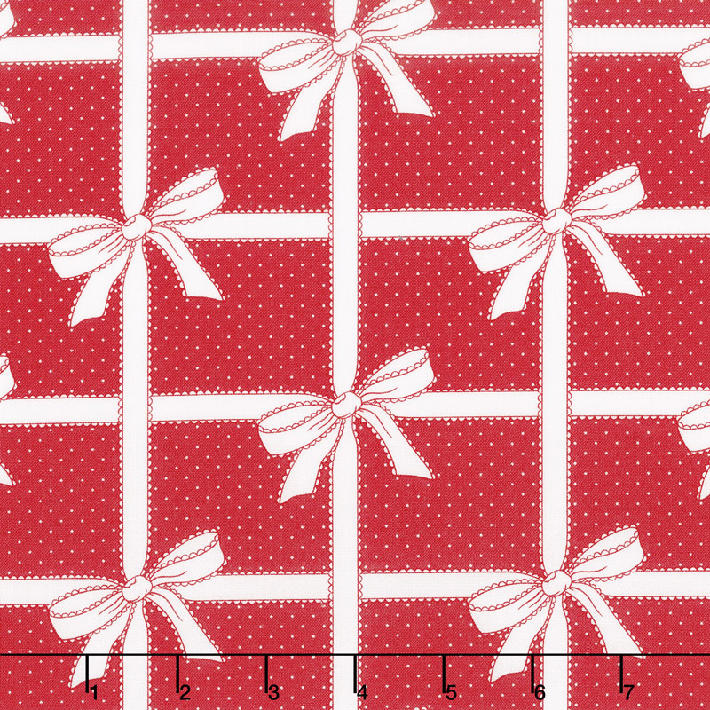 Vintage Holiday - Wrapped Up Red Yardage