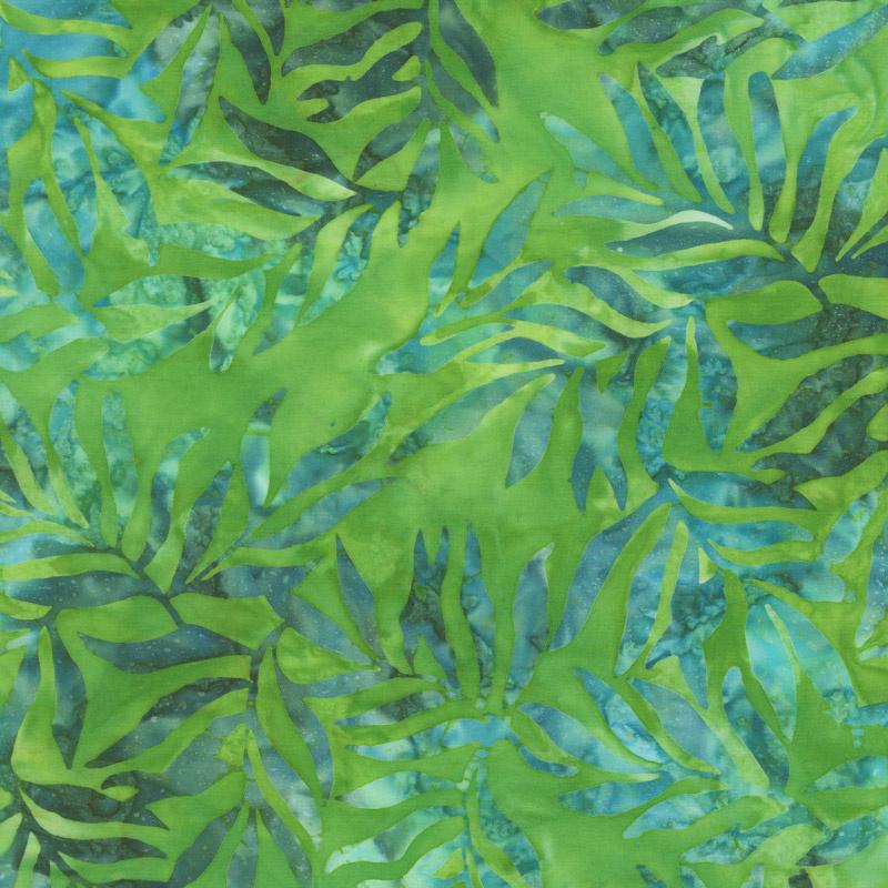 Artisan Batiks - Color Source 8 - Slender Leaves Moss Yardage