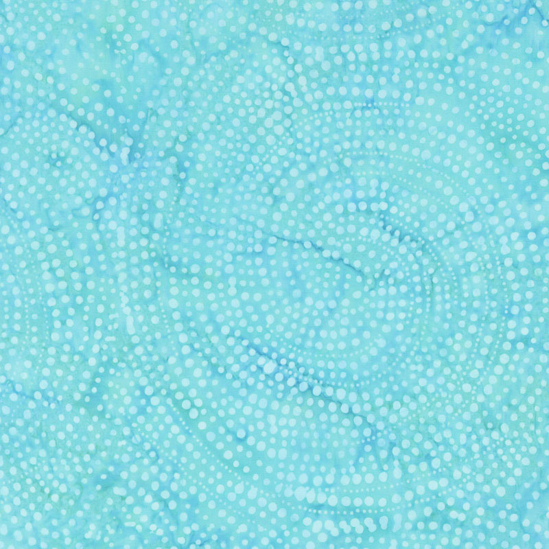 Tonga Batiks - Colorwheel Plume Dotty Spiral Island Yardage