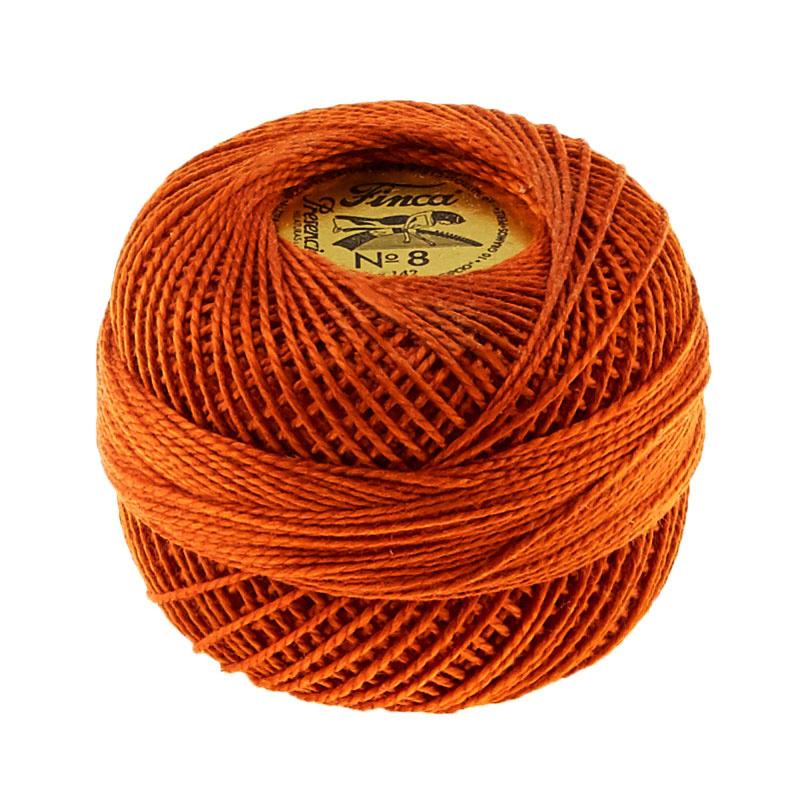 Presencia Perle Cotton Thread Size 8 Dark Golden Brown