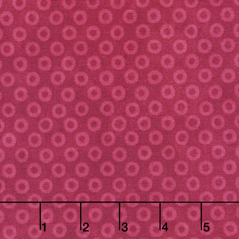 X's and O's - Big Cheerio's Cool Red Yardage