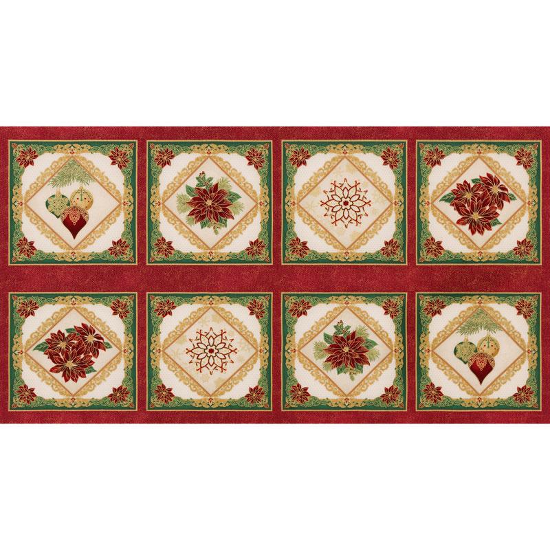 Holiday Flourish 12 - Snowflakes Holiday Metallic Panel