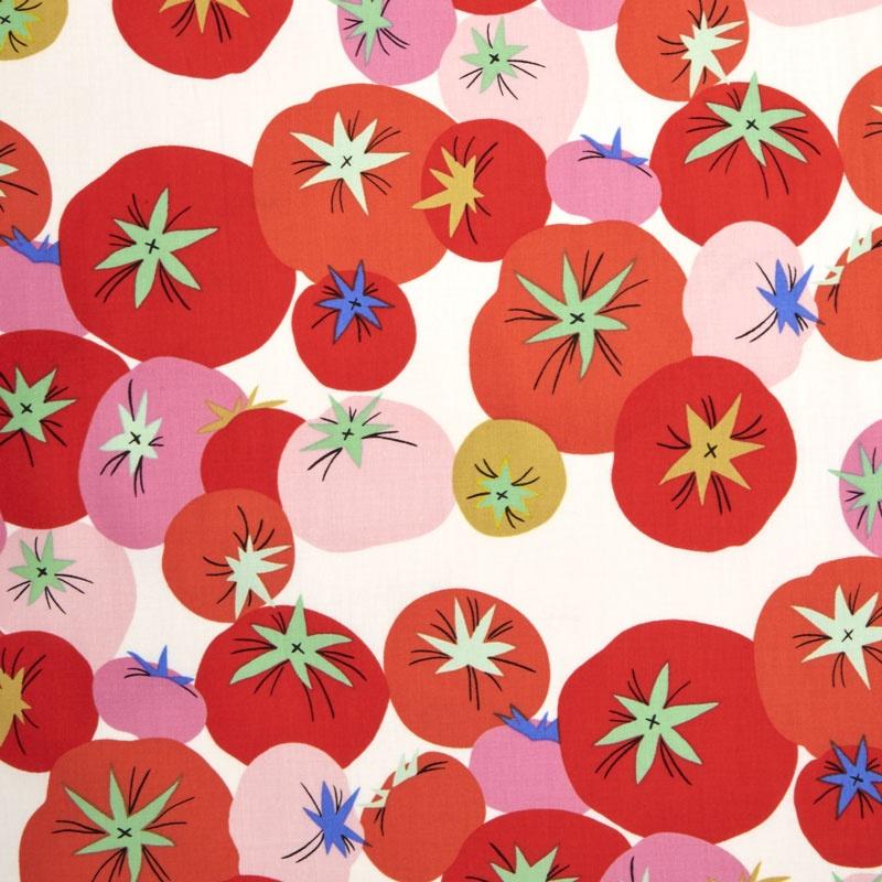 In the Kitchen - You Say Tomato White Yardage