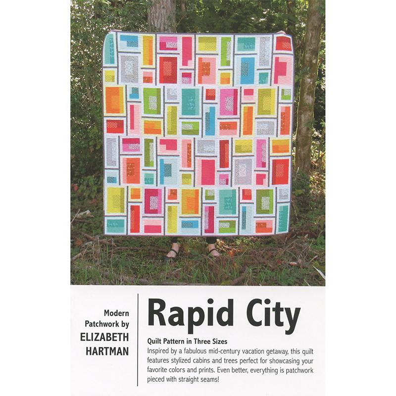 Rapid City Elizabeth Hartman fun modern pieced quilt PATTERN