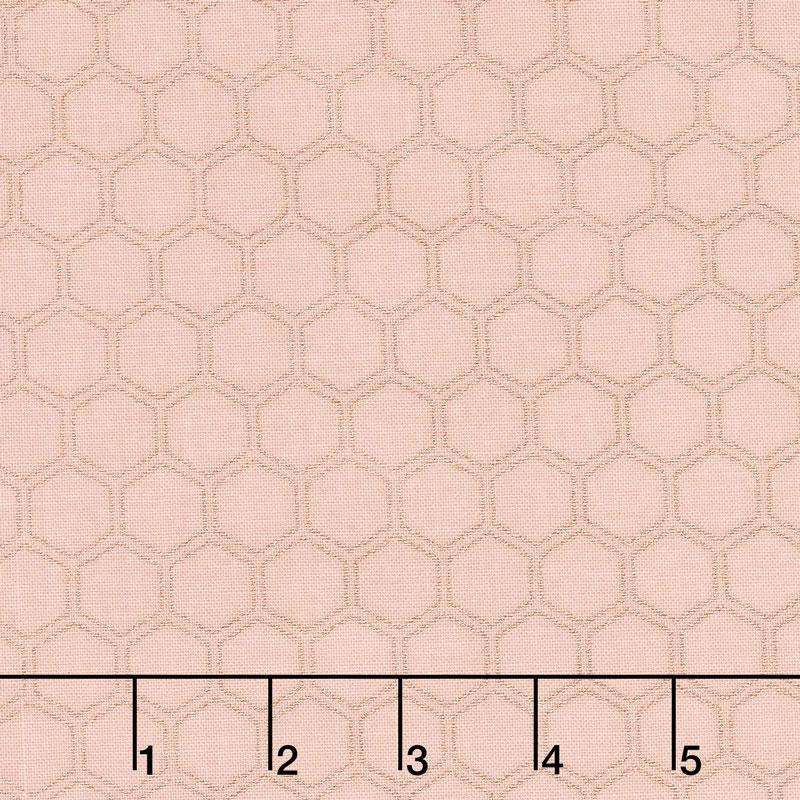 Bliss - Honeycomb Blush with Rose Gold Sparkle Yardage