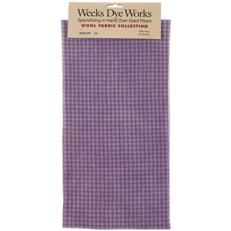 Weeks Dye Works Hand Over Dyed Wool Fat Quarter - Houndstooth Iris