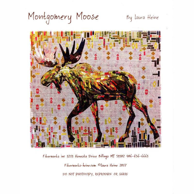 Montgomery Moose Collage Pattern Laura Heine
