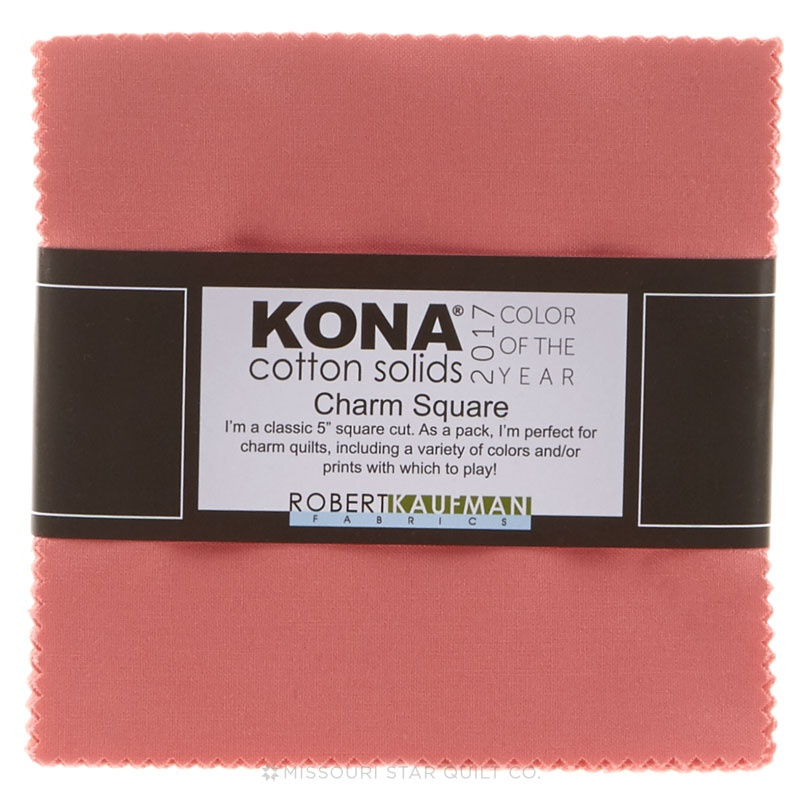 Kona Cotton - 2017 Color of the Year Pink Flamingo Charm Pack