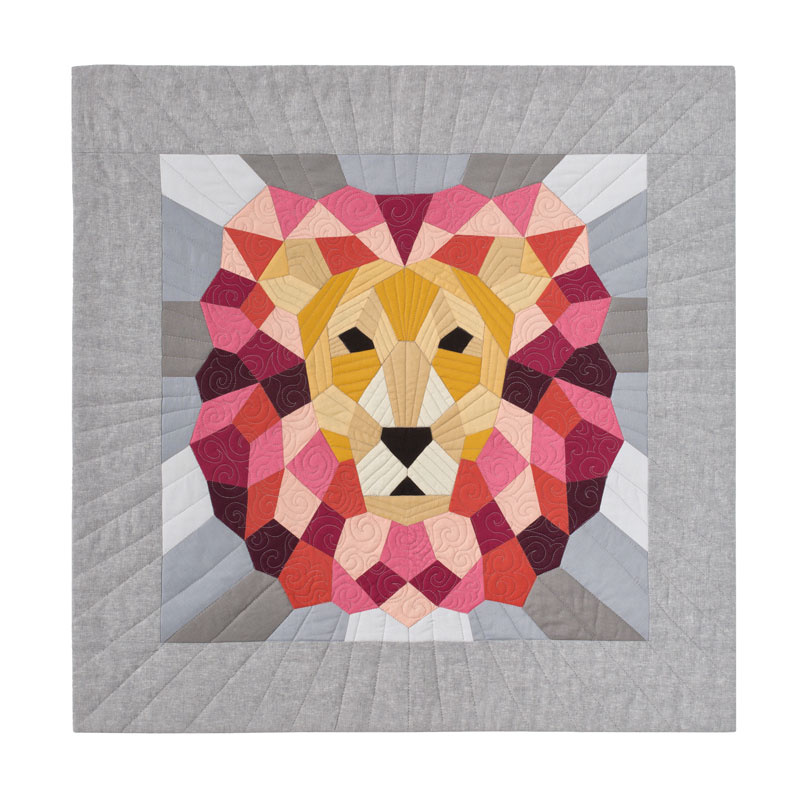The Lion English Paper Piecing Kit