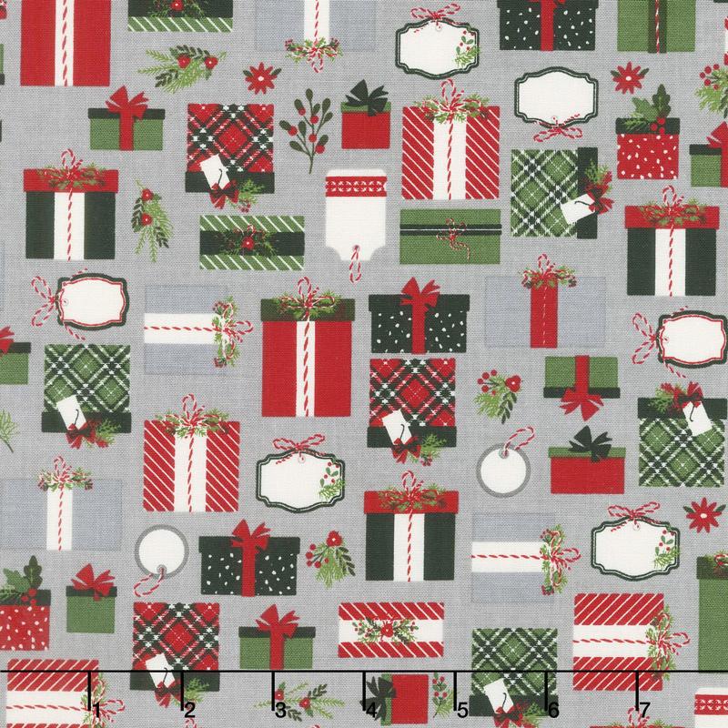 Christmas Delivery - Presents Gray Yardage