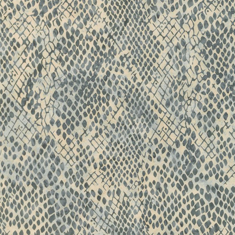 Wild Things Batiks - Snake Skin Charcoal Yardage