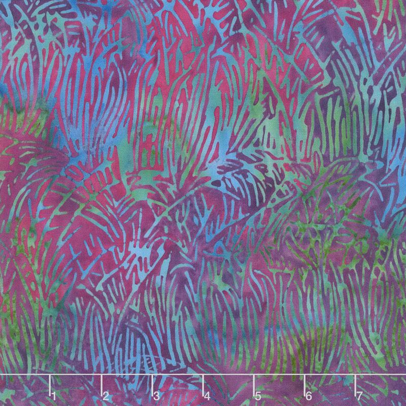 Petal Pushers Batiks - Grass Iris Yardage