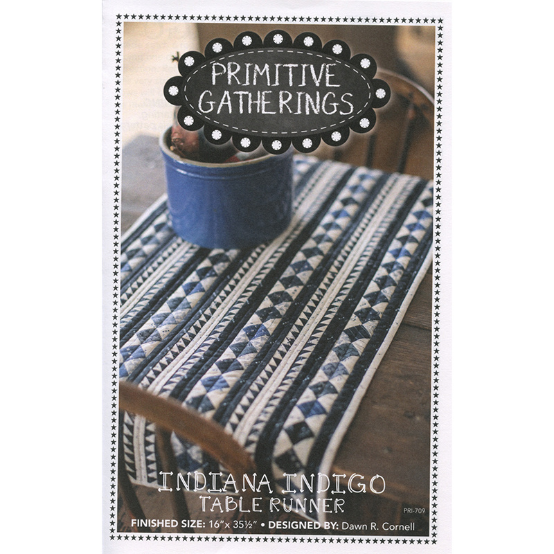 Indiana Indigo Table Runner Pattern