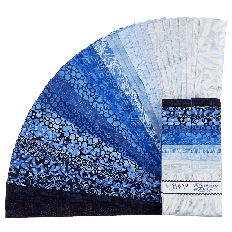Blueberry Patch Batiks Strips