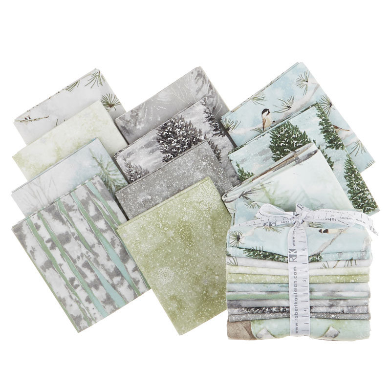 Winter White: Solstice - Winter Metallic Fat Quarter Bundle