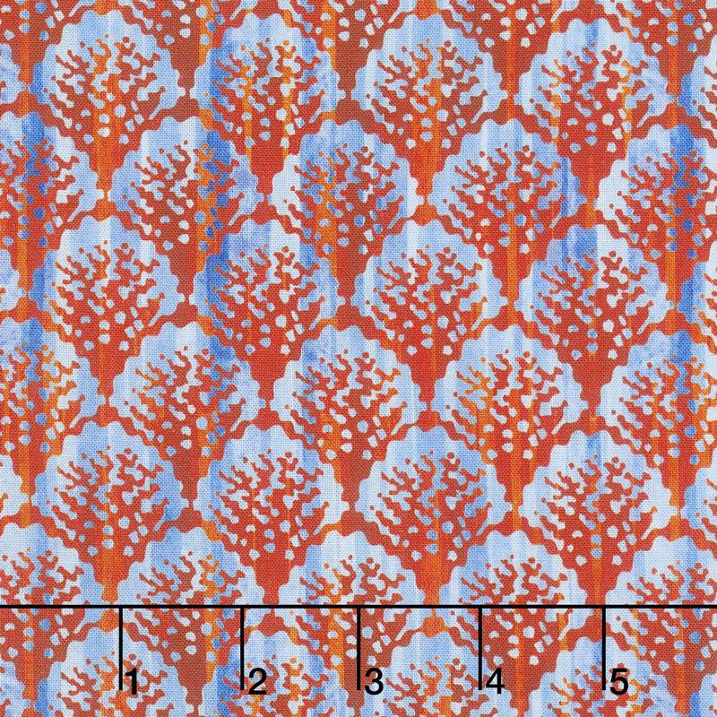 Calypso - Scallop Blue Digitally Printed Yardage