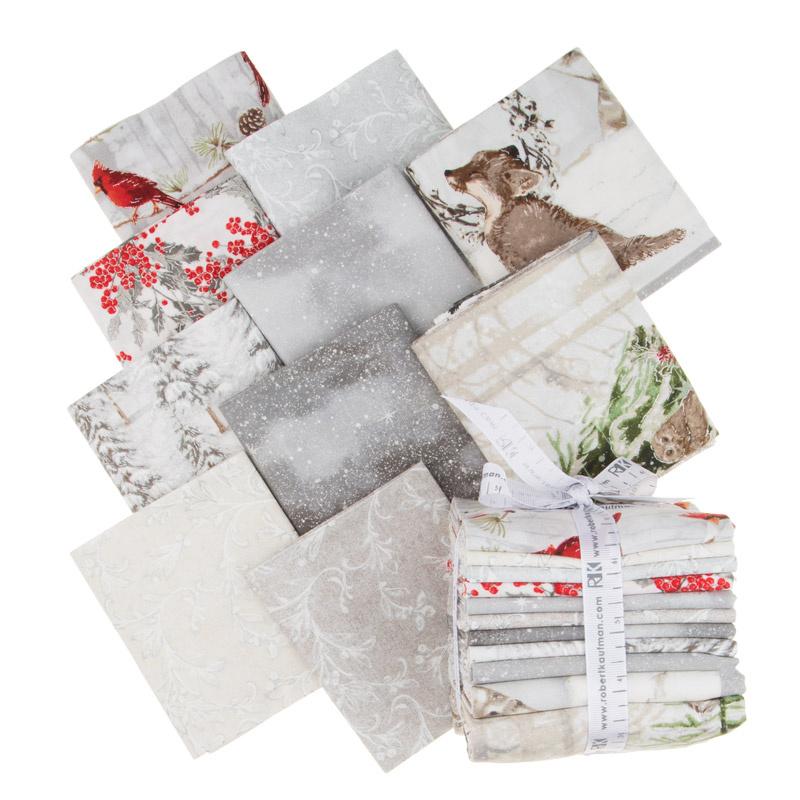 Winter White 3 Ice Metallic Fat Quarter Bundle