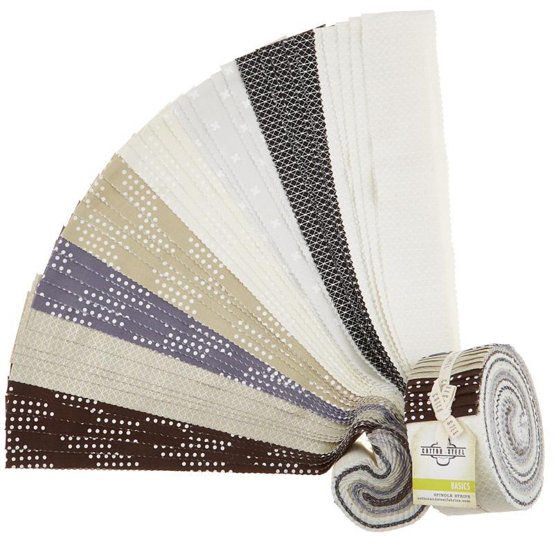 Cotton + Steel Basics Neutrals Spindle  Strips2