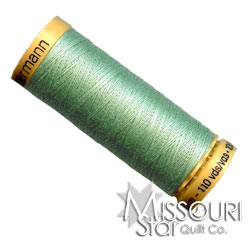 Gutermann 50 WT Cotton Thread Light Green