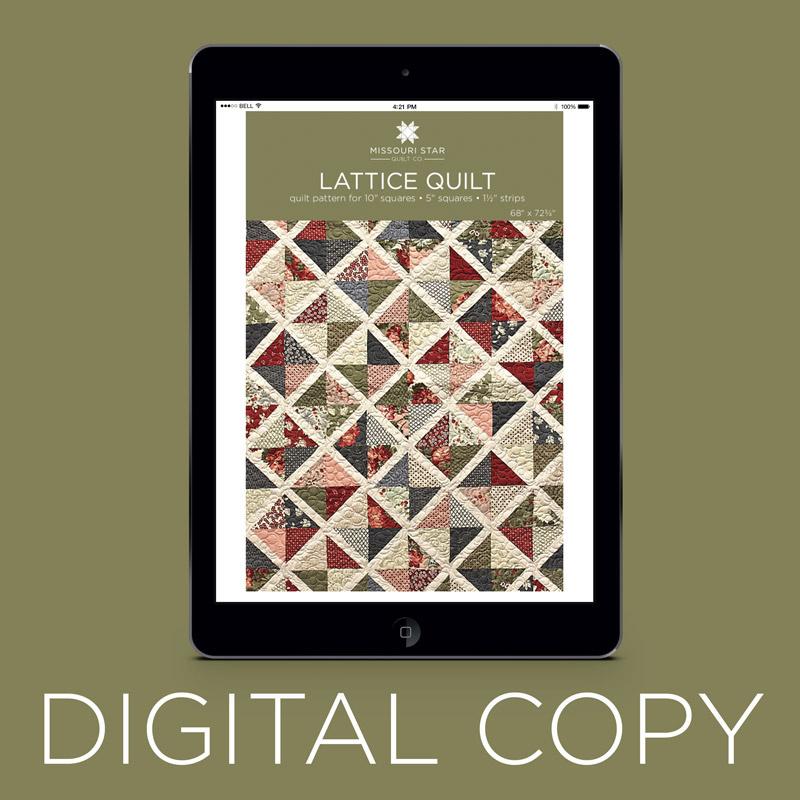 Digital Download Lattice Quilt Pattern By Missouri Star Missouri