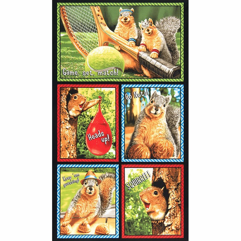Squirrel! - Bright Glasses Panel Multi Panel