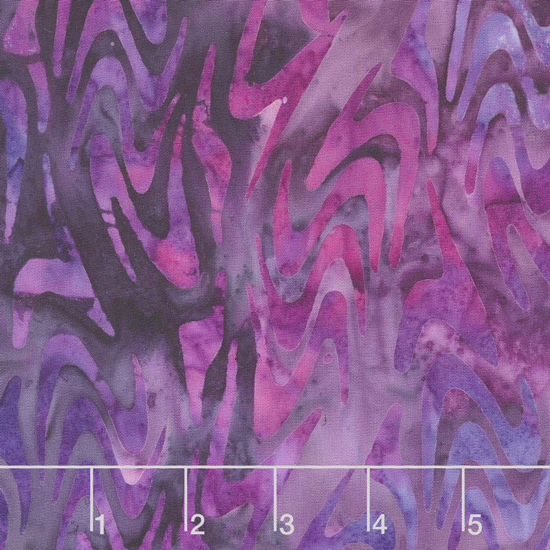Artisan Batiks - Artful Earth Swirls Purple Yardage