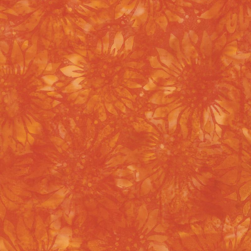 Autumn Harvest Batiks - Sunflower Nasturtium Yardage